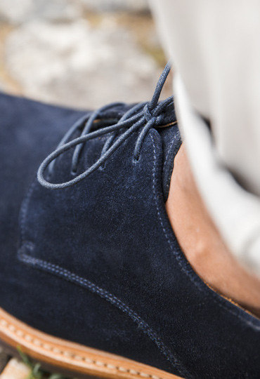 Derbies Suédé Marine